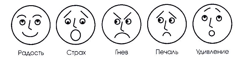 Смайлики эмоции картинки для детей в детский сад 5