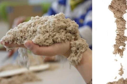 Как сделать кинетический песок домашних условиях без песка 853