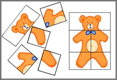 Схемы разрезных картинок